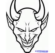 How To Draw A Devil Face Step 8
