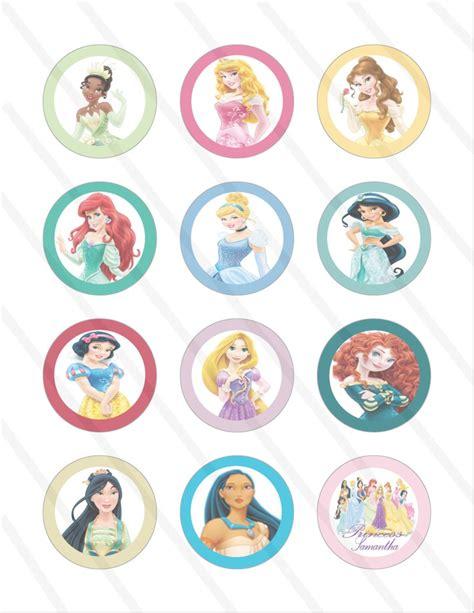 disney princess birthday 2 inch cupcake toppers
