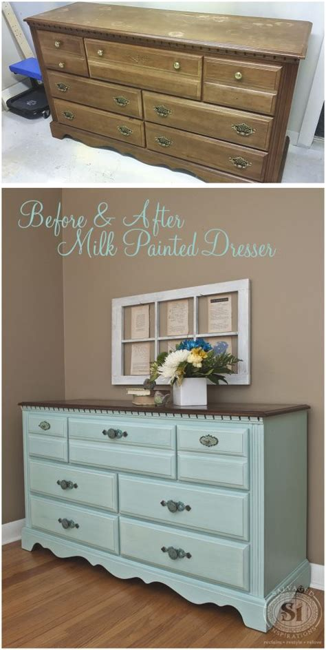 painting bedroom furniture before and after best 25 painted dressers ideas on chalk painted dressers chalk paint dresser and