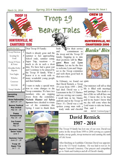 Index Of Downloads Newsletters 2014 News Boy Scout Troop Newsletter Template