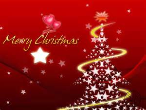 Merry christmas in red star