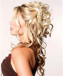 Half up and half down curly hairstyles best medium hairstyle
