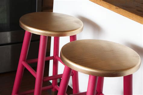 how to paint a bar stool gold dipped bar stools