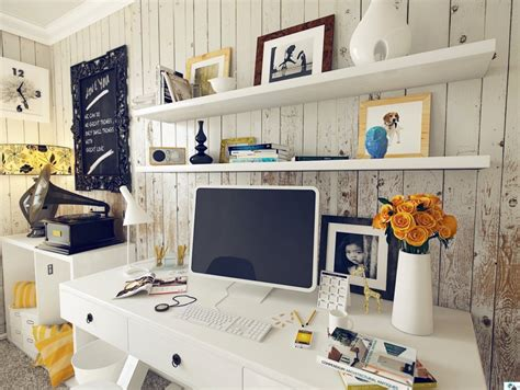 chic home office desk shabby chic home office interior design ideas