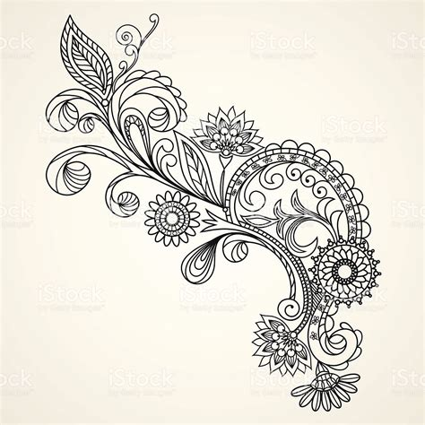 Draw A Pattern Using Flower As Motif | motif floral main dessin illustration cliparts