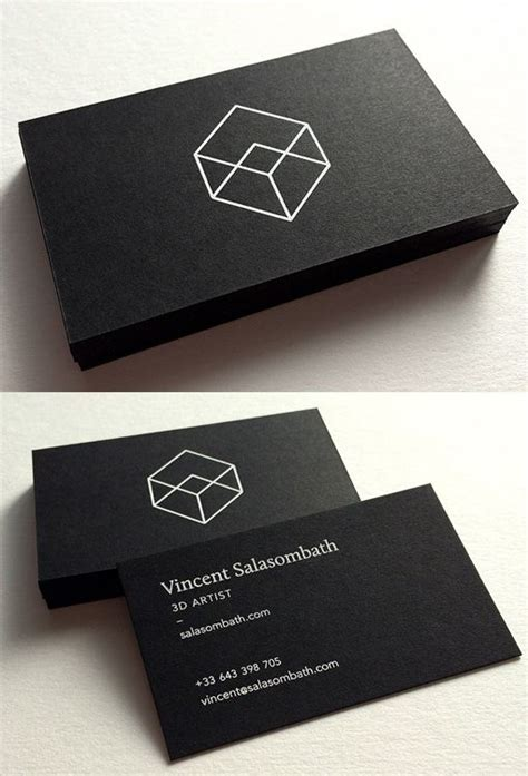 minimalistic business card design clean and crisp black and white minimalist business card