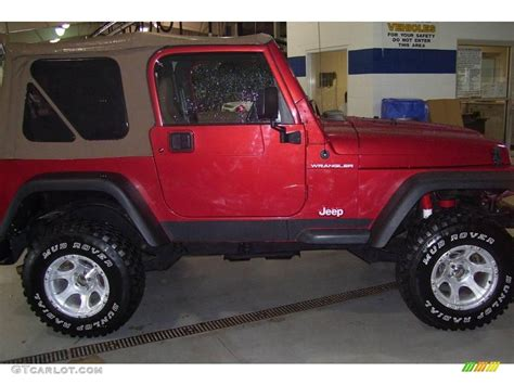 1999 chili pepper pearlcoat jeep wrangler se 4x4 20307902 gtcarlot car color galleries
