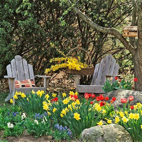 beautiful bulb combinations gardens spring and adirondack chairs