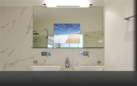 waterproof bathroom television vanity mirror tv