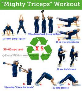 tricep workouts at home mighty triceps workout routine images frompo
