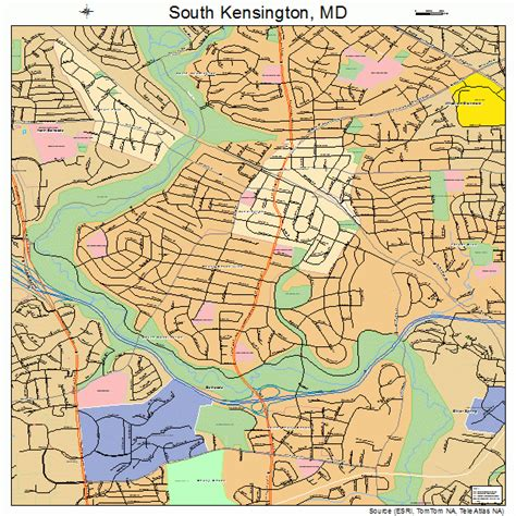 kensington md south kensington maryland street map 2473600