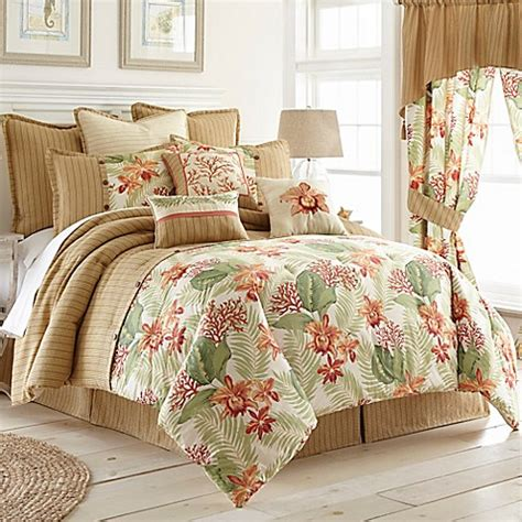 beach comforter set coral beach comforter set bed bath beyond
