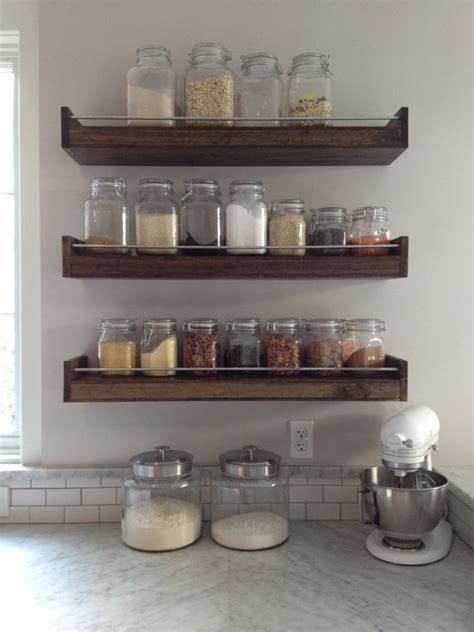 industial floating shelf industrial spice rack by
