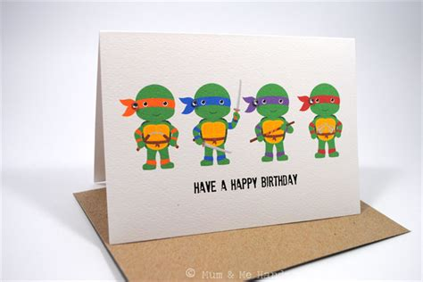 printable birthday cards ninja turtles happy birthday card boy teenage mutant ninja turtles