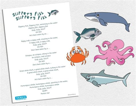 Slippery Fish Template by Product Details Teachertalk Inspiring Early Childhood