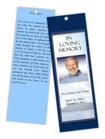 memorial template funeral program templates memorial bookmark mountain
