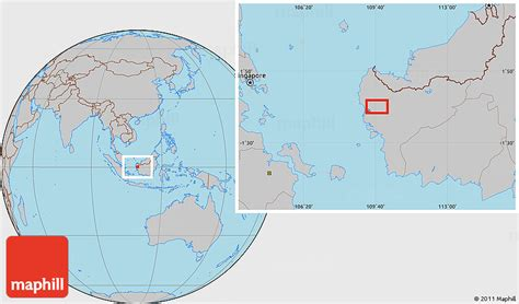 pontianak map gray location map of pontianak