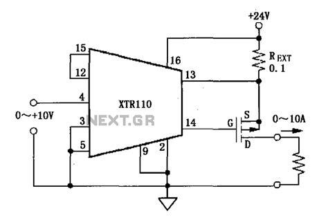 resistor voltage to current converter gt converters gt xtr110 voltage current converter circuit diagram l59536 next gr