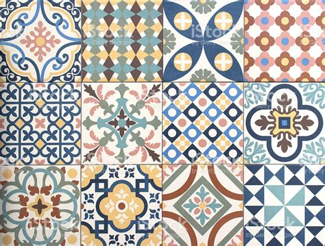 Decor Tiles And Floors by Colorful Decorative Tile Pattern Patchwork Design Stock