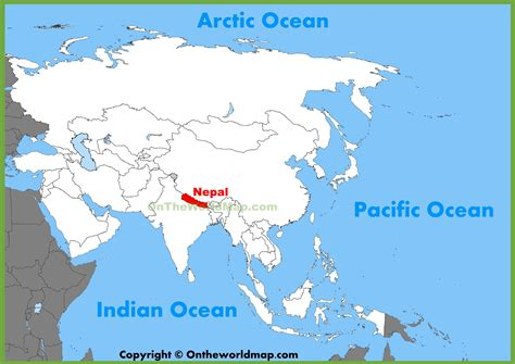 where is nepal on the map nepal location on the asia map