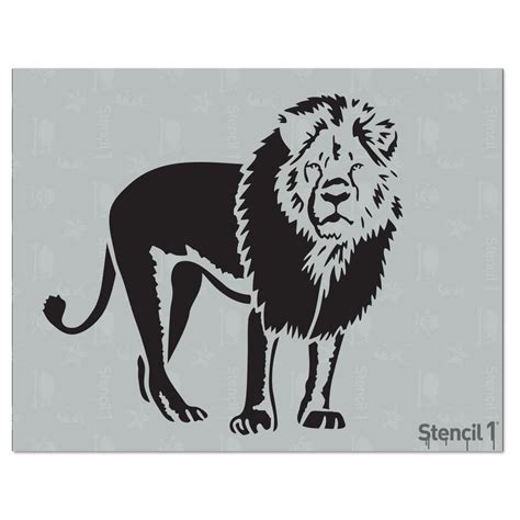High Quality Kitchen Faucets by Stencil1 Lion Stencil S1 01 304 The Home Depot