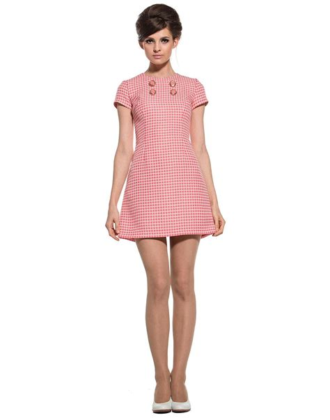 Dress Marmalade marmalade retro 60s mod floral lattice button fitted dress