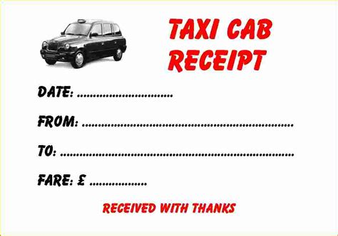 printable taxi receipt blank awesome taxi receipt template gallery entry level resume