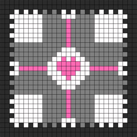 perler templates companion cube puzzle box template 2 perler bead pattern