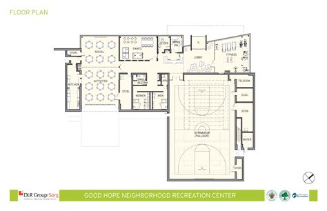 recreation center floor plan good hope neighborhood recreation center