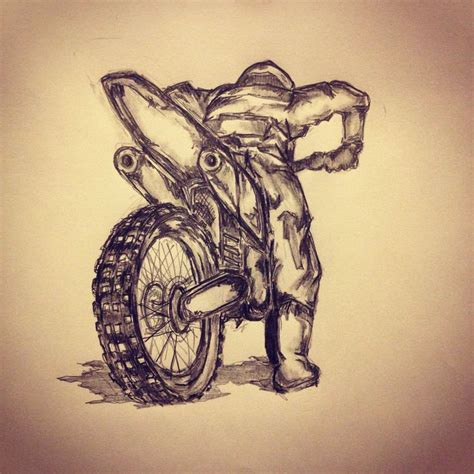 dirt bike tattoo designs motorcross sketch by ranz sketches