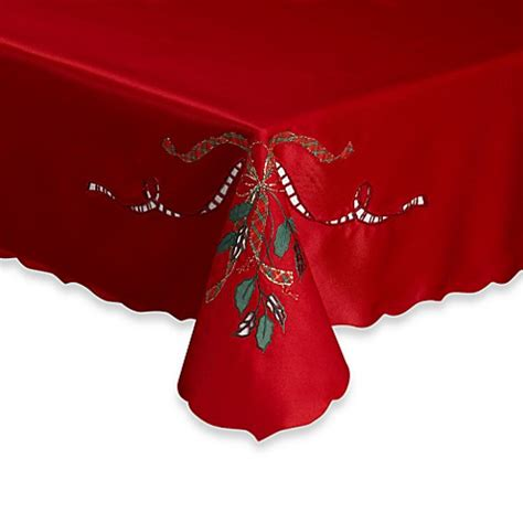 bed bath and beyond christmas tablecloths lenox 174 holiday nouveau cutwork tablecloth bed bath beyond