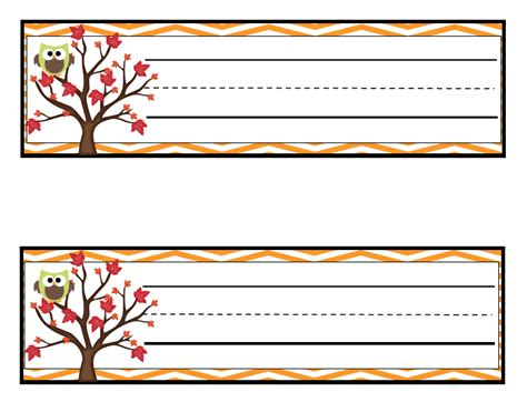 printable autumn name tags learning with a happy heart october 2012
