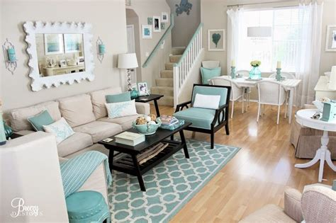 turquoise blue living room cottage living room decor 1000 images about sw 7036 accessible beige on pinterest