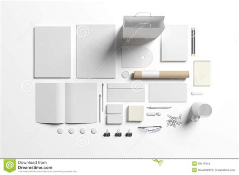 blank stationery set to replace your design royalty free