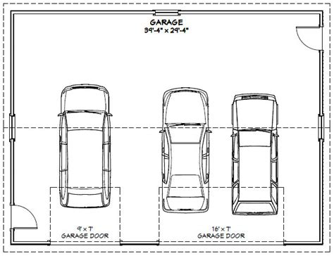 excellent single car garage size 15 with additional house 40x30 3 car garage 40x30g1m 1 200 sq ft excellent