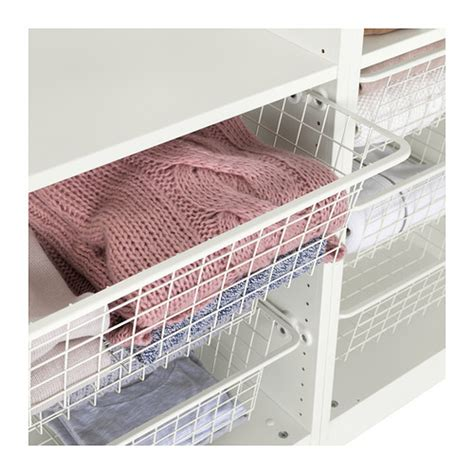 ikea wire baskets for wardrobes komplement wire basket with pull out rail white 100x35 cm