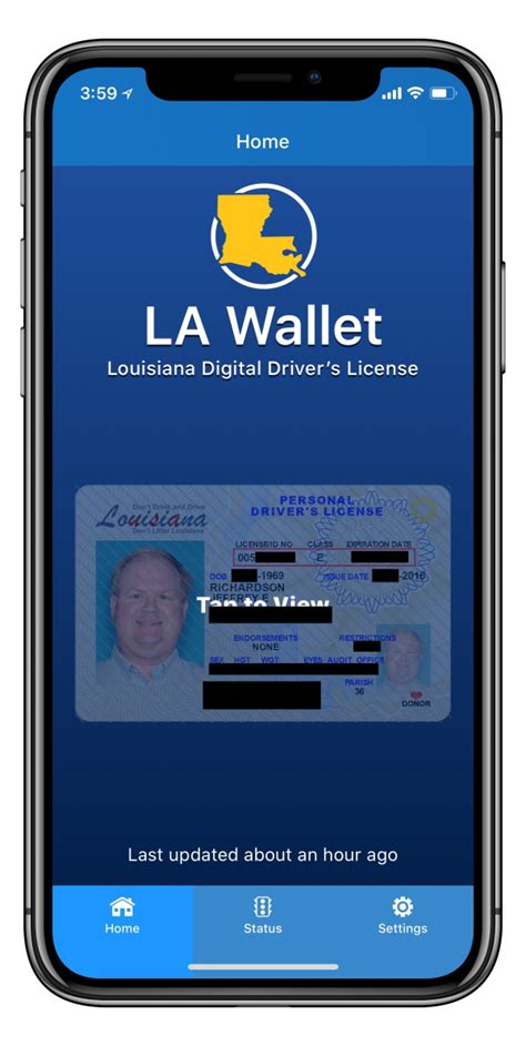 iphone j d review la wallet digital version of your louisiana driver s license on your iphone iphone j d