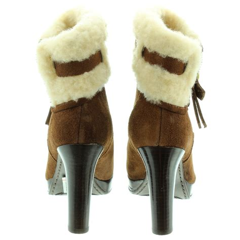 ugg high ankle boots in chestnut in chestnut