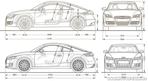 Audi Tt Kofferraum Ma E by Tt Masse Vgl Neuer Tt Audi Tt 8j 206688720