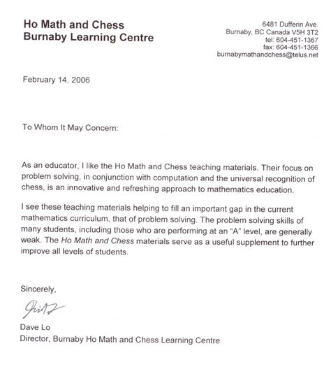 student recommendation letter template recommendation letter sle for student elementary http
