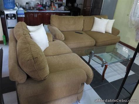 Sofa In Philippines For Sale by Corduroy Sofa Set With Center And Corner Table For Sale