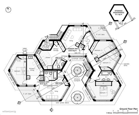 hexagon house floor plans hexagon homes are more logical save space when