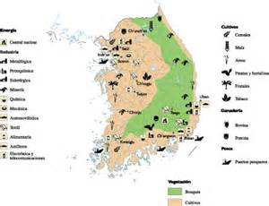economic map of south korea economic map illustrator eps city country maps