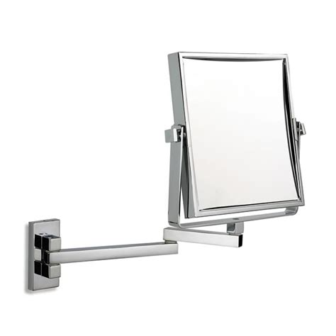 exclusive telescopic cosmetic wall mirror chrome 3 x square extending shaving or bathroom mirror in chrome