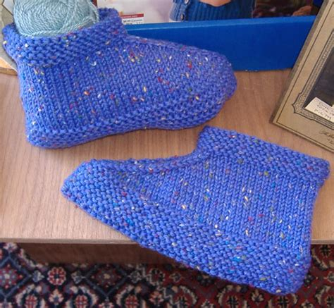 knitted slippers pattern with two needles knitting journal s space