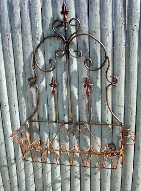 wrought iron wall planters wrought iron 33 quot spear fence window box wall planter