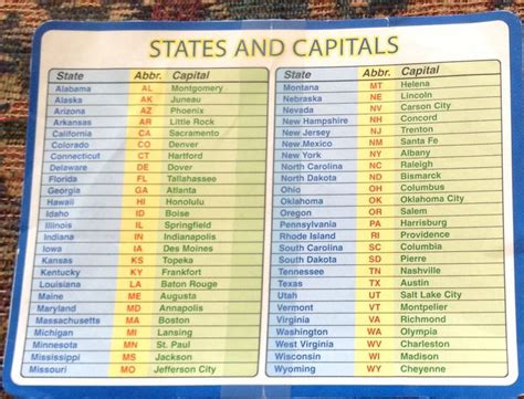 52 states of america list state and capital school pinterest states and