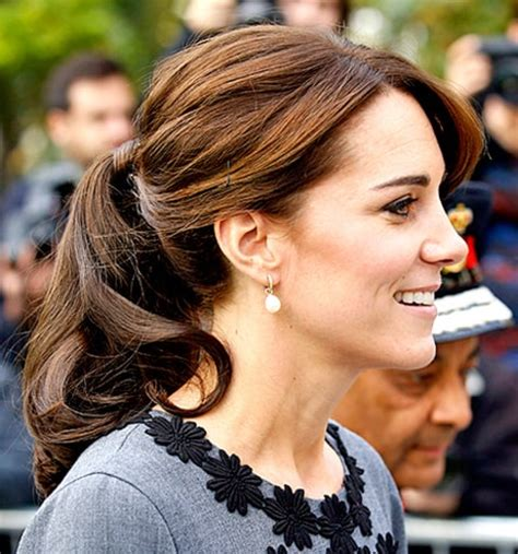 childrens haircuts cambridge kate middleton s ponytail is beyond bouncy see it from