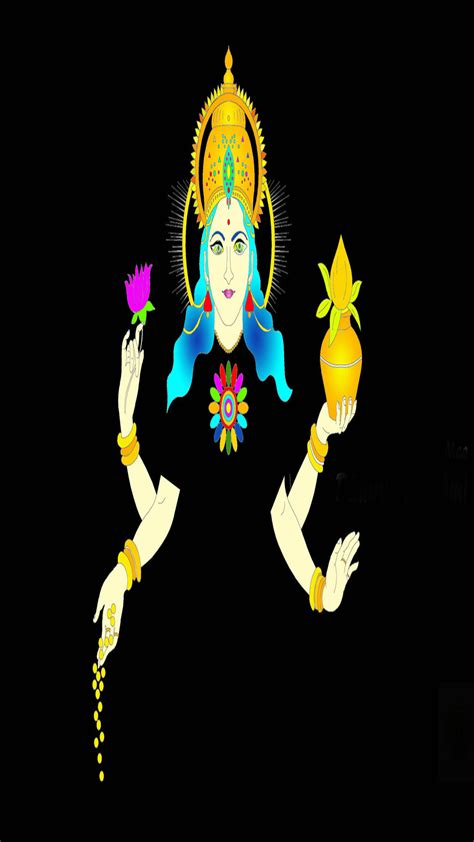 hd wallpaper for android mobile god goddess lakshmi with black background iphone full hd
