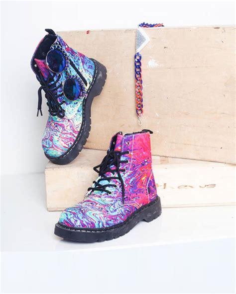 paint splatter combat boot shoes post